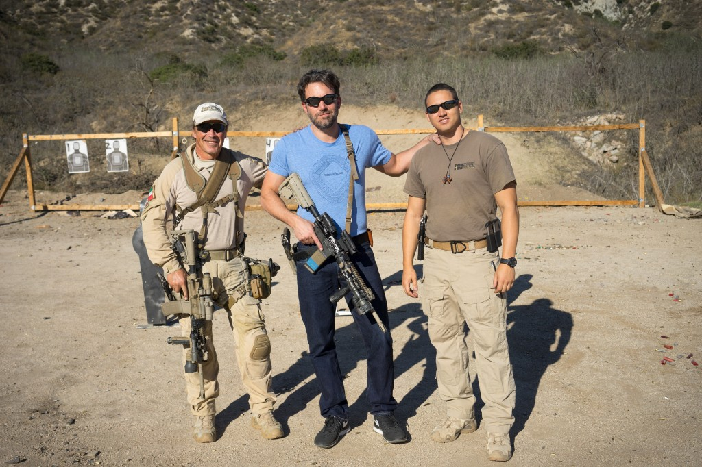 "Ben Affleck came out to train for his upcoming movie ""The Accountant""."