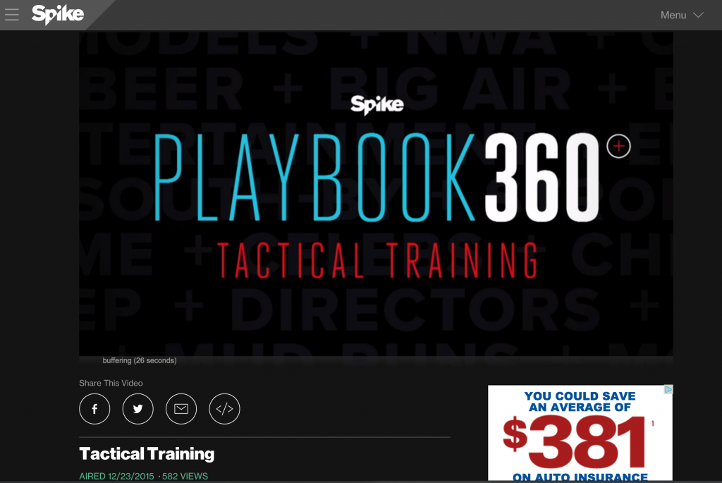 Spike TV Tactical Training